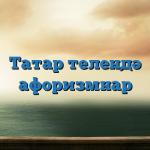 Татар телендә афоризмнар